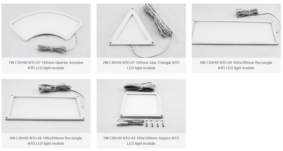 Standard Series CRI90-95 NTO mini LED panel light products