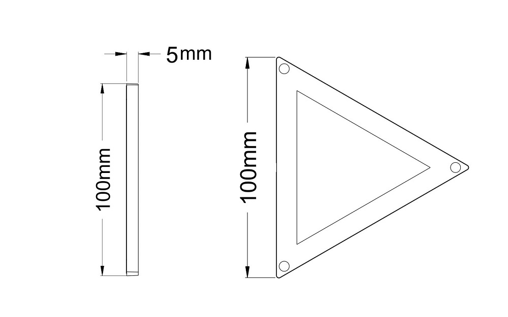 100mm-triangle nto light module-drawing